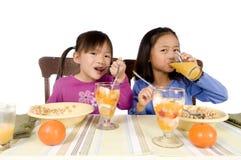 Comendo o pequeno almoço Foto de Stock Royalty Free