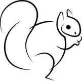 Comendo o sumário do esquilo ilustração royalty free