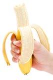Comendo uma banana Fotografia de Stock