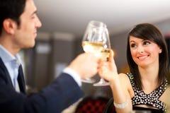 Comensal em um restaurante luxuoso imagens de stock royalty free