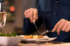 Comensal no restaurante Imagem de Stock