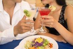 Comensal romântico Fotos de Stock Royalty Free