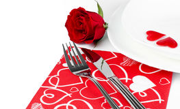 Comensal romântico Fotografia de Stock