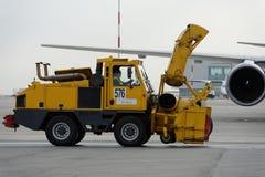 Comentario anual del equipo del aeropuerto en Pulkovo, St Petersburg, Rusia Foto de archivo