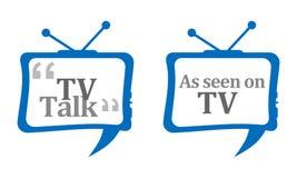 Comentario de la charla de la TV Imagenes de archivo