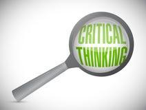 comentario de pensamiento crítico Magnifique el concepto imagen de archivo