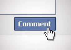 Comentario del botón ilustración del vector