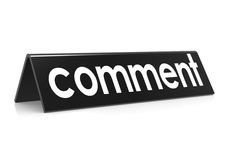 Comentario en negro Imágenes de archivo libres de regalías
