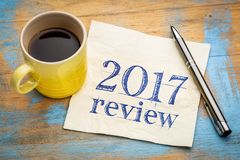 comentario 2017 en servilleta Fotos de archivo libres de regalías
