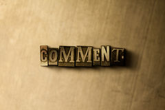 COMENTARIO - primer de la palabra compuesta tipo vintage sucio en el contexto del metal Imagenes de archivo