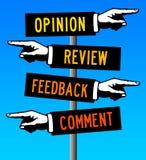comentarios y reacción Fotografía de archivo libre de regalías