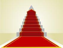 Comenzar el camino al éxito en la escala de la carrera Imágenes de archivo libres de regalías