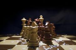 Comenzar el juego de ajedrez Fotografía de archivo libre de regalías