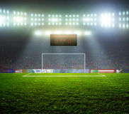 Comenzar un partido de fútbol Fotografía de archivo