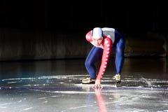 Começo da patinagem de velocidade Imagens de Stock