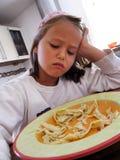 Comer da menina Imagens de Stock