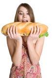 Comer da menina Fotos de Stock Royalty Free