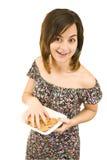 Comer da mulher imagens de stock royalty free