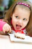 Comer das crianças Foto de Stock Royalty Free