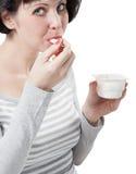 Comer das mulheres Imagem de Stock