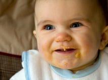 Comer do bebê Imagem de Stock