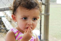 Comer do bebê fotografia de stock royalty free