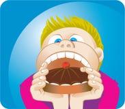 Comer do menino Fotos de Stock