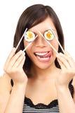 Comer engraçado saudável Imagem de Stock Royalty Free