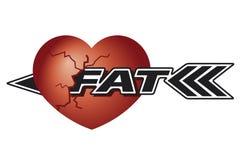 Comer gordo causado coração danificado Fotos de Stock Royalty Free