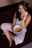 Comer insalubre Imagem de Stock