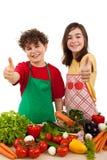 Comer saudável é APROVADO Fotos de Stock
