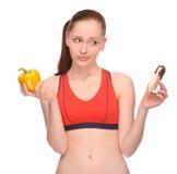 Comer saudável? imagens de stock