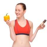 Comer saudável? imagem de stock