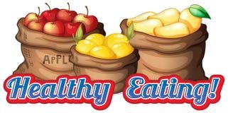 Comer saudável ilustração royalty free