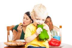 Comer saudável da criança Fotografia de Stock
