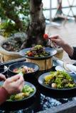 Comer saudável da recepção das refeições do restaurante do banquete fotos de stock royalty free