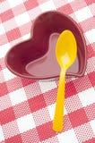 Comer saudável do coração Fotos de Stock Royalty Free
