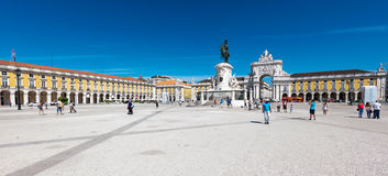 Comerce Square in Lisbon royalty free stock photo