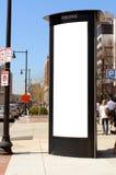 Comerciais altos assinam dentro a cidade Imagem de Stock Royalty Free