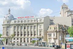 The Comercial Academy Palace. Build by Grigore Cerchez, Edmond van Saanen Algi and Culina Arghir. The Academy of Economics Studies from Bucharest, Romania Stock Photography