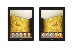 Comercial beer app template concept Stock Images