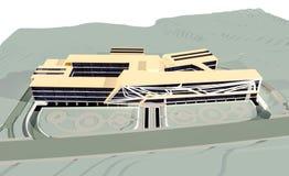 Comercial building 3d render Stock Images
