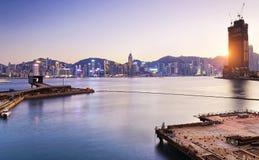 Comercial de containerhaven van Hong Kong Royalty-vrije Stock Foto's