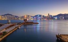 Comercial de containerhaven van Hong Kong Stock Afbeelding