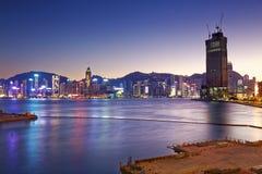 Comercial de containerhaven van Hong Kong Stock Afbeeldingen