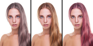 Comercial for hair colors Royalty Free Stock Photo
