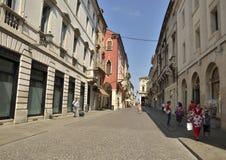 Comercial Italian street Stock Photo