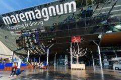 Comercial mitt Maremagnum, Barcelona Arkivfoton