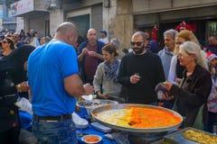 Comercialice la escena, parte del día de fiesta de días de fiesta en Haifa Fotos de archivo