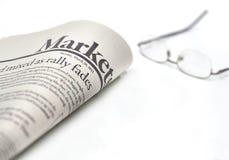 Comercializa el periódico con el copyspace Fotos de archivo libres de regalías